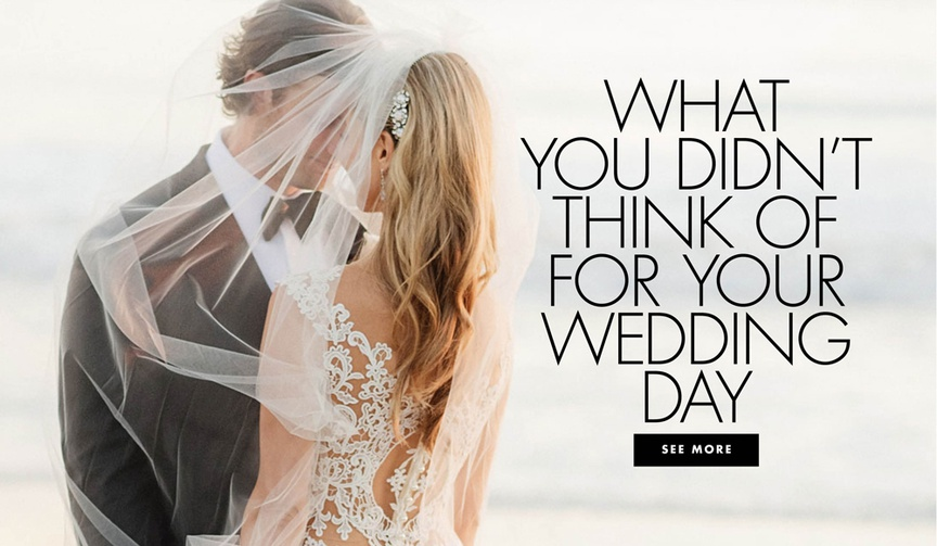 What you didn't think of for your wedding what you didn't know you'd need