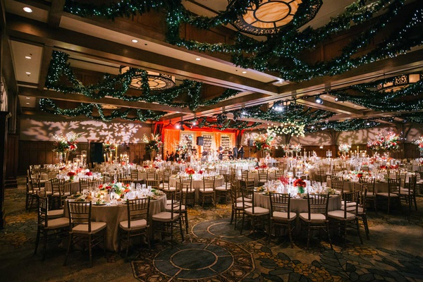 Magical Winter Wedding With Luxurious Red Amp White Holiday Decor