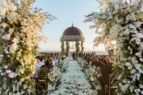 Charlise Castro and Houston Astros mlb player George Springer III wedding ceremony pelican hill