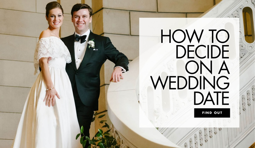 how to choose a wedding date, what to consider before picking a wedding date