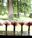 bridesmaid bouquets of pink and green flowers