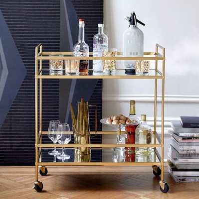 Art Deco gold bar cart wedding gift idea