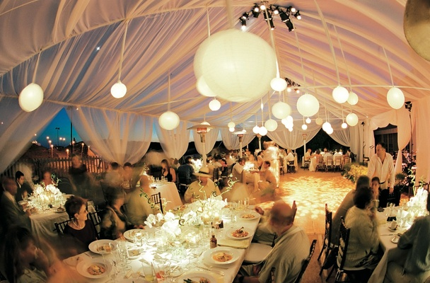 ... Evening reception decorations for beach tent wedding ... : decorating tents for wedding receptions - memphite.com