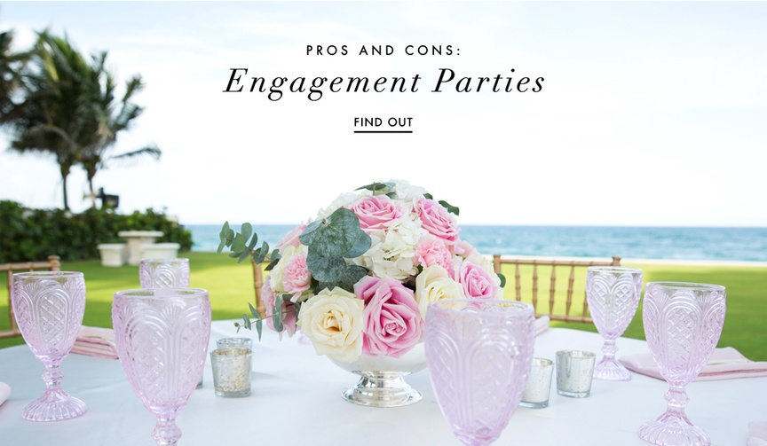 the pros and cons of having an engagement party or wedding shower before your wedding