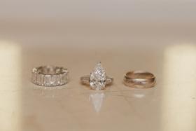 Nick Carter's wedding band and Lauren Kitt's ring