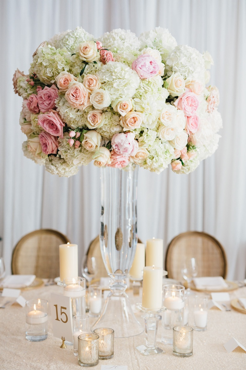 Reception Dcor Photos Tall White Pink Flower Arrangement