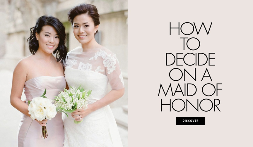How to decide on a maid of honor for your wedding