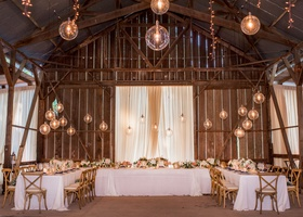 wedding venue dos pueblos ranch barn santa barbara area glass orb pendants u shape table x chairs