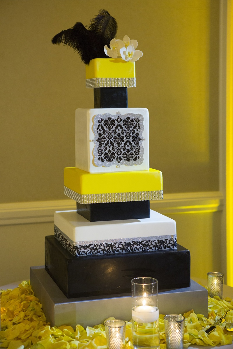 Cakes & Desserts Photos - Modern Feather Cake - Inside Weddings