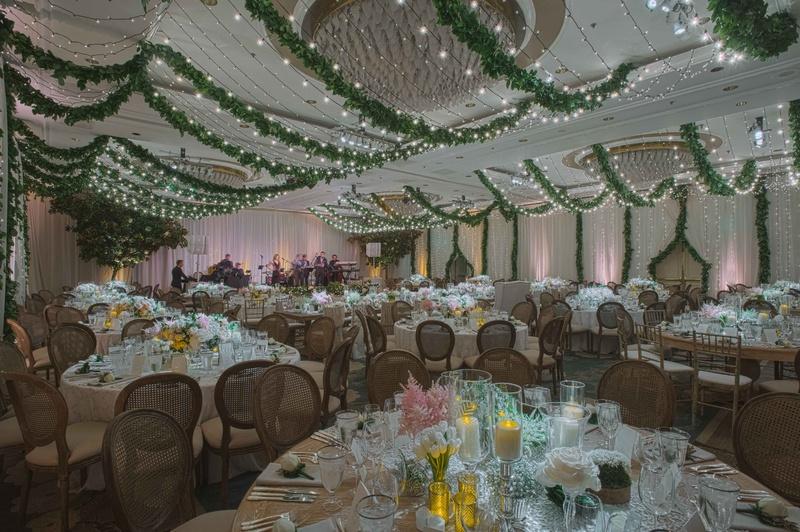An Indoor Rustic Ceremony: Rustic Ballroom Wedding Ceremony