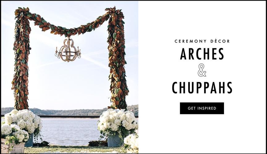 Wedding ceremony arch and chuppah ideas