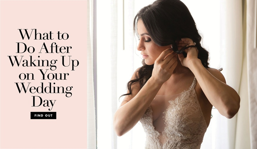 what to do first on your wedding day, morning of wedding to-do list