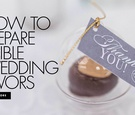 how to prepare edible wedding favors