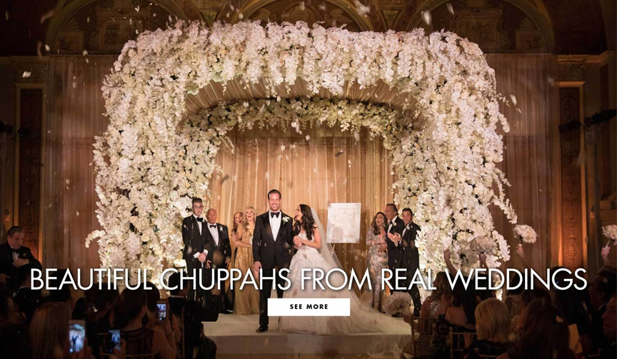 These ceremony structures are both stunning and honor tradition.