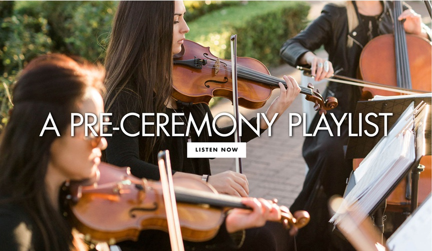 a pre ceremony playlist for your romantic wedding music
