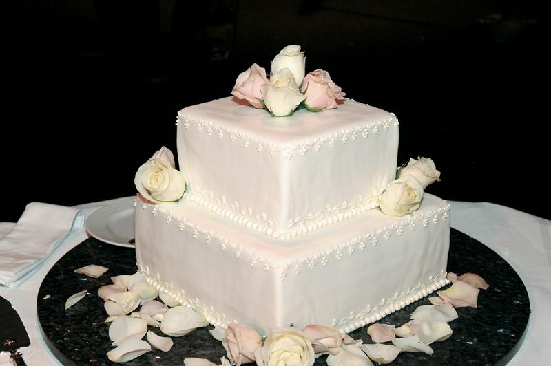 Cakes & Desserts Photos - Simple Square Wedding Cake - Inside Weddings