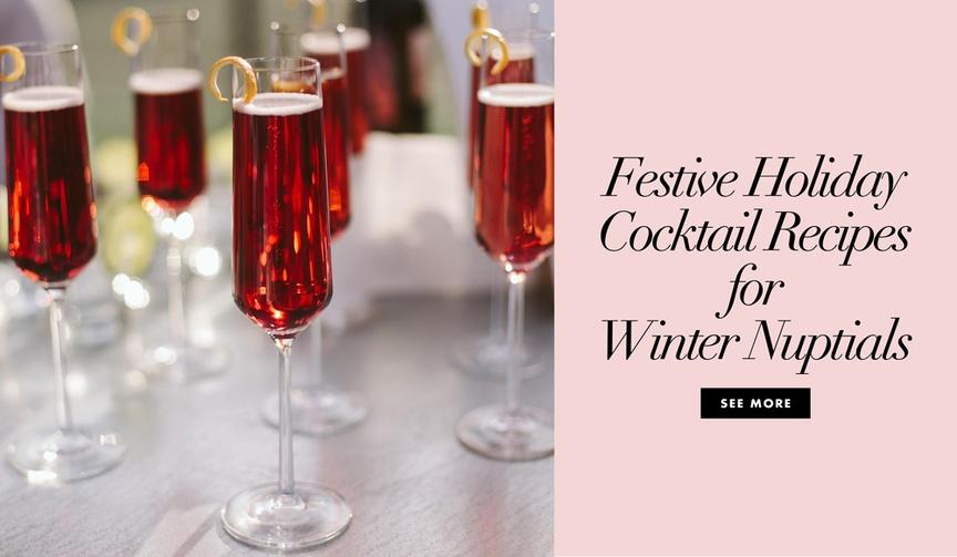 holiday cocktails vodka winter weddings grey goose elevated nice mixed drinks bar menu
