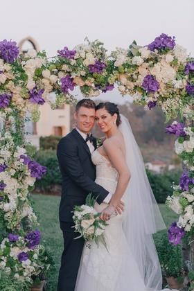 Backstreet Boys singer with wife on wedding day