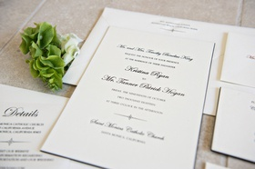 wedding invitation suite sophisticated classic invitation calligraphy script