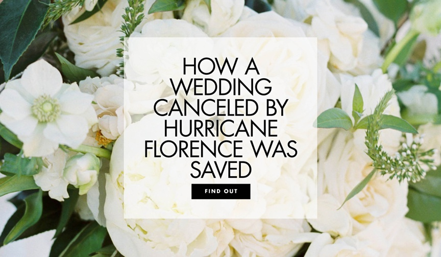 How a wedding canceled by hurricane florence was saved