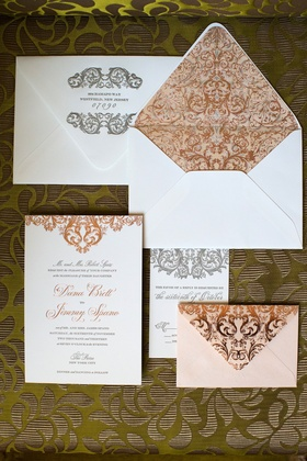 White embossed envelopes with intricate design