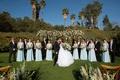 Echosmith singer Sydney Sierota and Cameron Quiseng wedding ceremony outdoor bridesmaids groomsmen