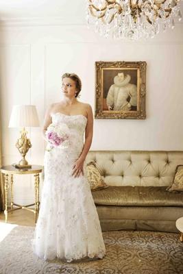 Donatella Arpaia wedding dress in bridal suite