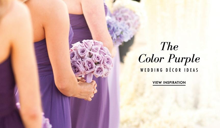 Purple wedding ideas for ceremony or reception