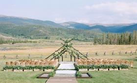 wedding at devil's thumb ranch colorado mountain wedding