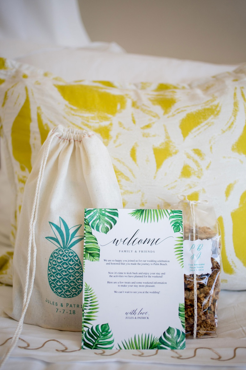 palm beach wedding welcome bag from the breakers palm beach