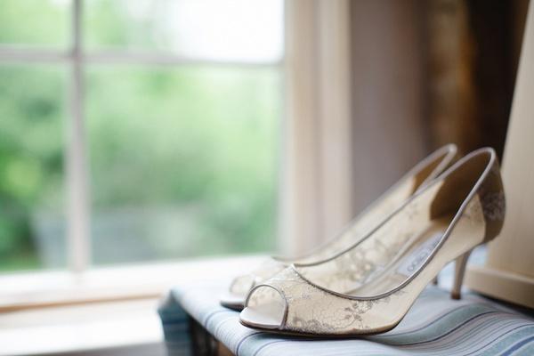 ivory lace isabel peep-toe jimmy choo bridal shoes