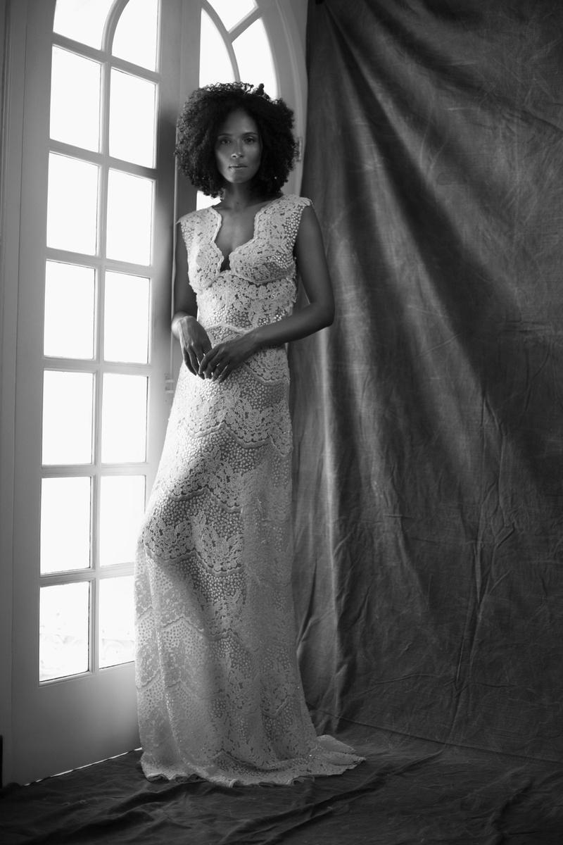 Ines Di Santo fall 2019 bridal collection wedding dress Martina A-line scallop lace