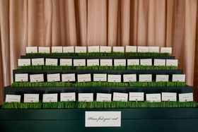 Pro Golfer 2017 Masters Tournament winner PGA tour Sergio Garcia wedding escort card display seating