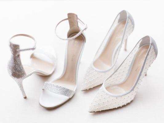 cheryl burke wedding shoes silver glitter ankle strap sandals and white mesh pumps designer