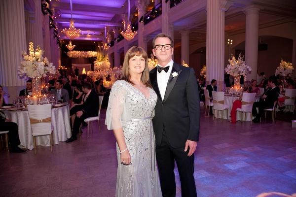 Bride's mom and dad at Houston wedding reception