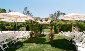 Outdoor wedding on grass in Ojai, California