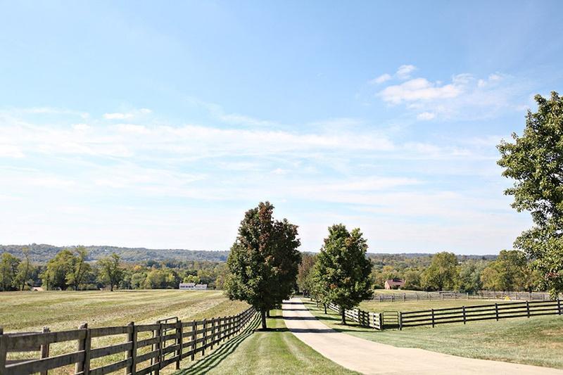 Farm fence and pathway at parent's farm in Hamilton, Ohio