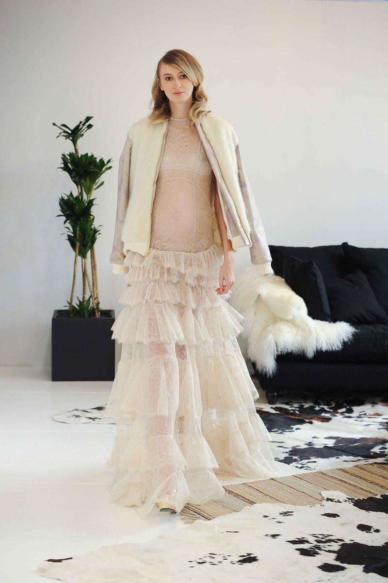 Wedding Dresses Photos - Mohair Jacket Over Ruffle Bridal Gown ...