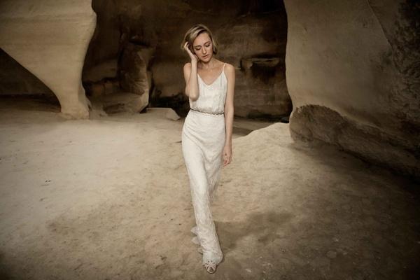 Limor Rosen 2017 Lee Or V-neck wedding dress with beaded straps Tribal Collection