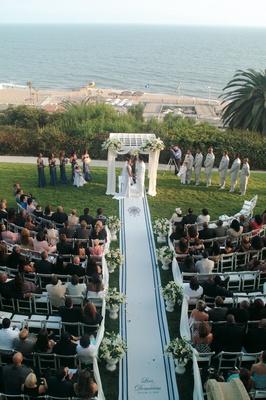 Bel-Air Bay Club outdoor wedding ceremony