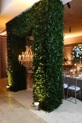 greenery arch chandelier dominican republic wedding reception royal details faux regal