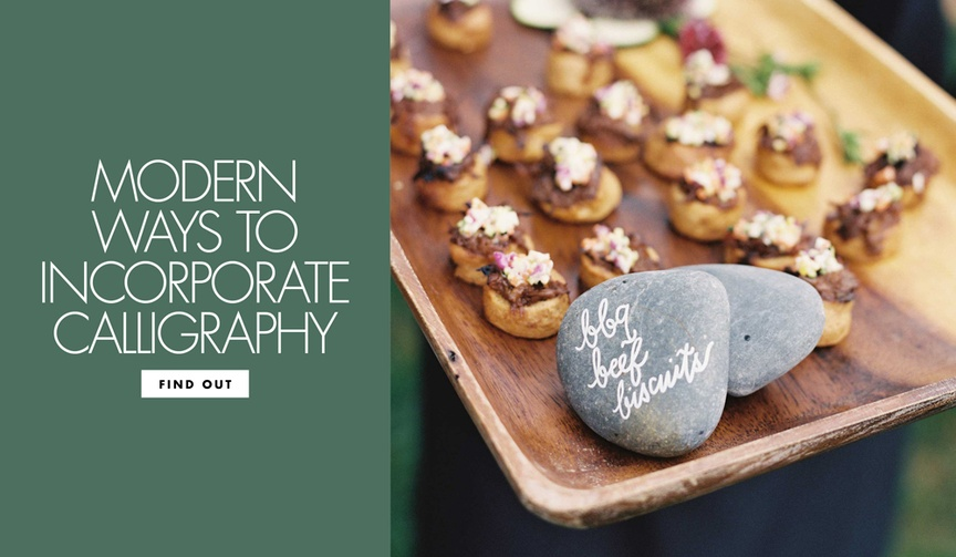 contemporary ways include calligraphy wedding decor vintage details modern