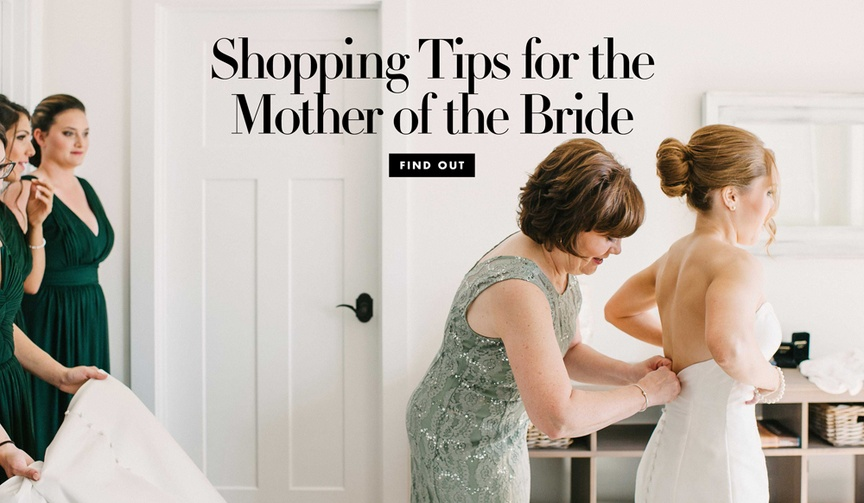 Shopping tips for the mother of the bride