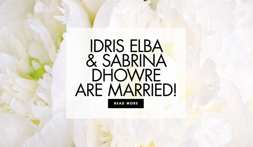 Idris Elba and Sabrina Dhowre are married see more from their morocco wedding