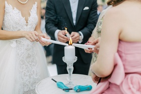 Wedding ceremony in France Hong Kong wedding tradition candle lighting ceremony with mothers