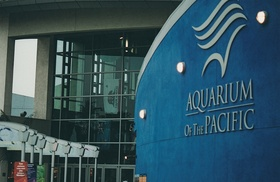 Entrance to Aquarium of the Pacific in Long Beach