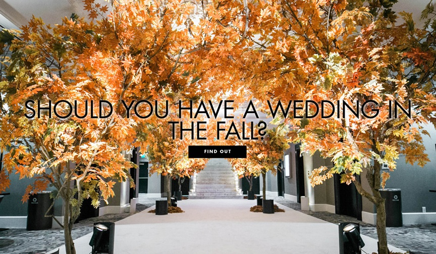 SHould you have a fall wedding? pros and cons for hosting a fall wedding