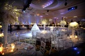 Round tables in Beverly Wilshire hotel ballroom