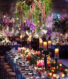 enchanted forest themed wedding full of color