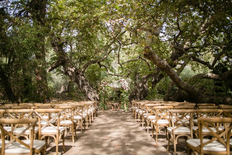 A rustic camp themed outdoor wedding inside weddings wood chairs under canopy of trees outdoor wedding ceremony natural theme camp theme rustic wedding junglespirit